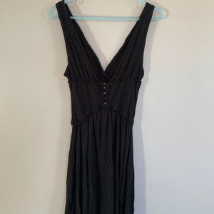 Free People deep-V mini dress